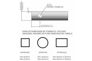 PERFURA TUBO COM MATRIZ INTERNA – HASTE – PTH20 / PTH35 / PTH50 /FT10